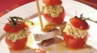 8 tomates 1 Sainte Maure de Touraine 3 œufs durs 2 cuillères à café de moutarde ½ cuillère de paprika 1 botte de ciboulette Sel et poivre Conseils : Coupez […]